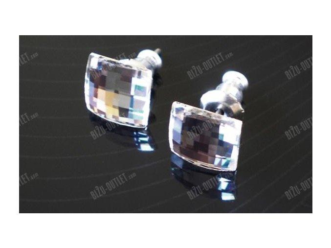Náušnice s krystalem ve tvaru čtverce, Swarovski Elements