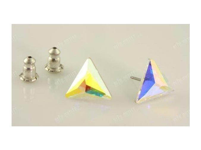 Náušnice trojúhelník, Swarovski Elements