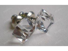 Náušnice s krystalovou kostkou, Swarovski Elements